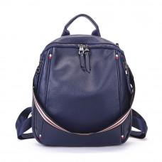 Кожаный рюкзак MIRONPAN 9035 цвет Темно-синий
