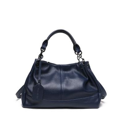 Женская сумка из натуральной кожи MIRONPAN 80243 цвет Темно-синий