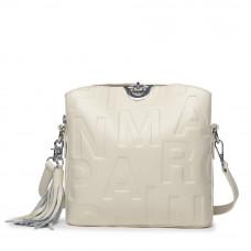 Женская кожаная сумка MIRONPAN 1039 цвет Молочный