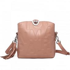 Женская сумка из натуральной кожи MIRONPAN 1039 цвет Пудра