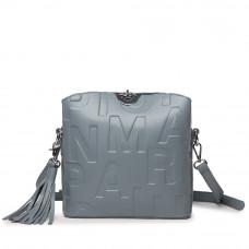 Женская кожаная сумка MIRONPAN 1039 цвет Синий пепел