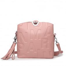 Женская сумка из натуральной кожи MIRONPAN 1039 цвет Розовый