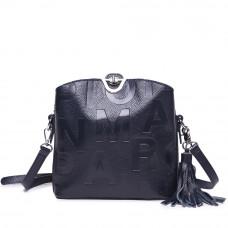 Женская сумка из натуральной кожи MIRONPAN 1039 цвет Темно-синий