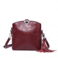 Женская кожаная сумка MIRONPAN 1039 цвет Бордовый
