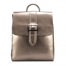 Женский кожаный рюкзак MIRONPAN 6806 цвет Темное серебро