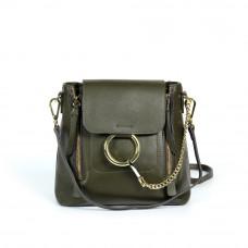 Женская кожаная сумка MIRONPAN 8990 цвет Темно-зеленый
