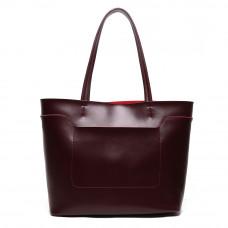 Женская кожаная сумка MIRONPAN 70816 цвет Бордовый