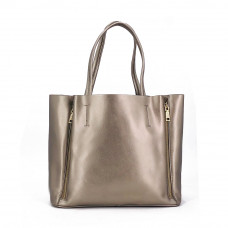 Женская кожаная сумка MIRONPAN 16017 цвет Серебро