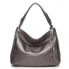 Женская кожаная сумка MIRONPAN 1041 цвет Темное серебро