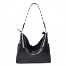 Женская сумка мешек кожаная MIRONPAN 161032 цвет Черный