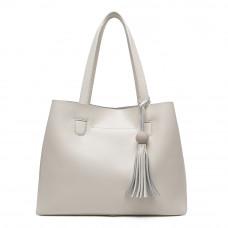 Женская кожаная сумка MIRONPAN 161209 цвет Молочный BS