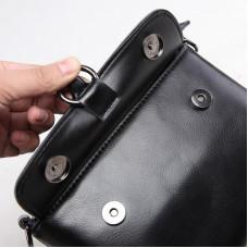 Маленькая женская кожаная сумка на плечо MIRONPAN 1002 цвет Бордовая