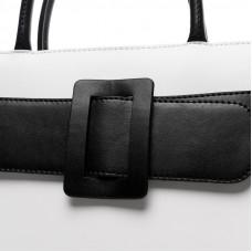 Женская кожаная сумка MIRONPAN 70307 цвет Белый с голубым