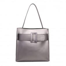 Женская кожаная сумка MIRONPAN 161033 цвет Темное серебро
