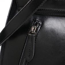 Сумка рюкзак женская кожаная MIRONPAN 161222 цвет Черный