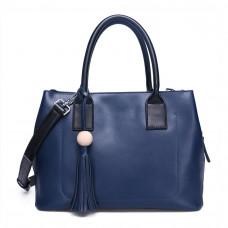 Женская кожаная сумка MIRONPAN 161003 цвет Темно-синий