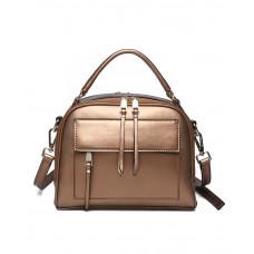 Женская кожаная сумка MIRONPAN 16018 цвет Золото