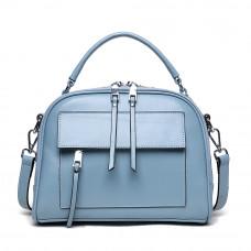 Женская кожаная сумка MIRONPAN 16018 цвет Синий пепел