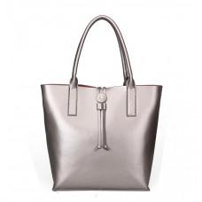 Женская кожаная сумка MIRONPAN 15121 цвет Серебро