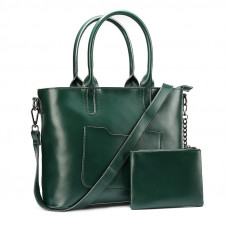 Женская сумка из натуральной кожи MIRONPAN 6805 цвет Темно-синий