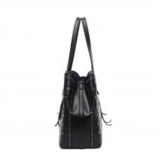 Женская кожаная сумка MIRONPAN 70227 цвет Темное серебро