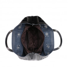 Женская кожаная сумка MIRONPAN 70227 цвет Синий пепел