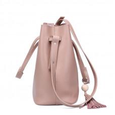 Женская сумка из натуральной кожи на плечо MIRONPAN 161030 цвет Черный