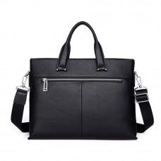 Мужская кожаная сумка MIRONPAN 50503 цвет Черный