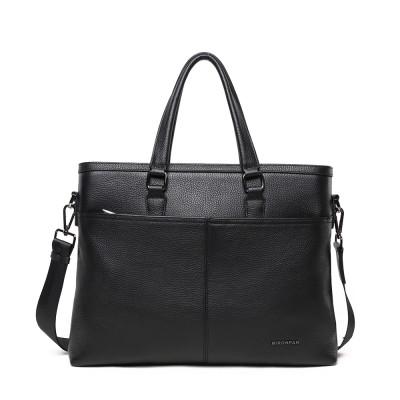 Мужская сумка из кожи MIRONPAN 71250 черного цвета