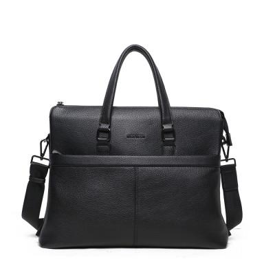 Мужская кожаная сумка MIRONPAN 71256 цвет Черный