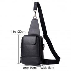 Мужская сумка из кожи MIRONPAN 880132 цвет Черный