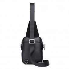 Мужская кожаная сумка MIRONPAN 880131 черного цвета