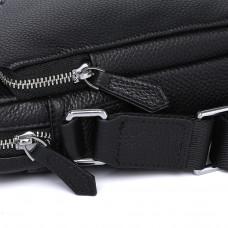 Мужская сумка из кожи MIRONPAN 26271 цвет Черный