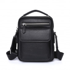 Мужская сумка из кожи MIRONPAN 26291 черного цвета