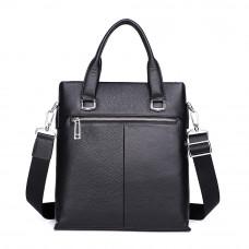 Мужская сумка из кожи MIRONPAN 880031 черного цвета