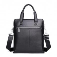 Мужская сумка из кожи MIRONPAN 51012 черного цвета