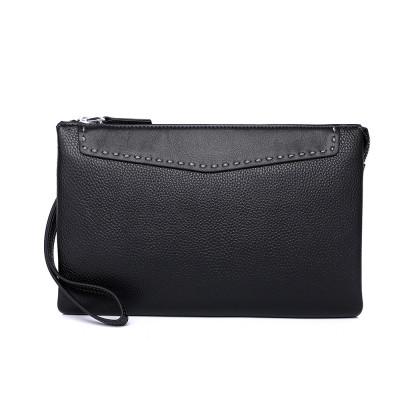 Мужской кожаный клатч MIRONPAN 65111 Черный
