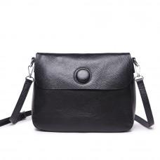Женская кожаная сумка MIRONPAN 1055 цвет Черный