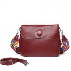 Женская кожаная сумка MIRONPAN 1055 цвет Бордовый
